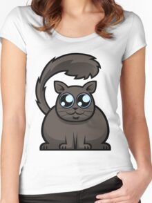 Brown Cat Women's Fitted Scoop T-Shirt