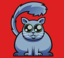 Blue Cat One Piece - Short Sleeve