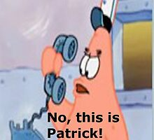 This is patrick! iphone case by Elnyra19