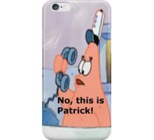 This is patrick! iphone case iPhone Case/Skin