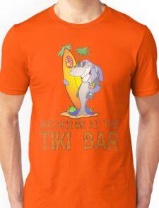 Tiki Bar Shark Unisex T-Shirt