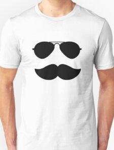 Aviators and Moustache Unisex T-Shirt