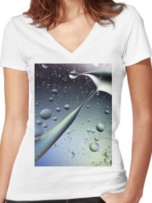 BUBBLE 2 Women's Fitted V-Neck T-Shirt