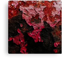 Red Scab #2 Canvas Print