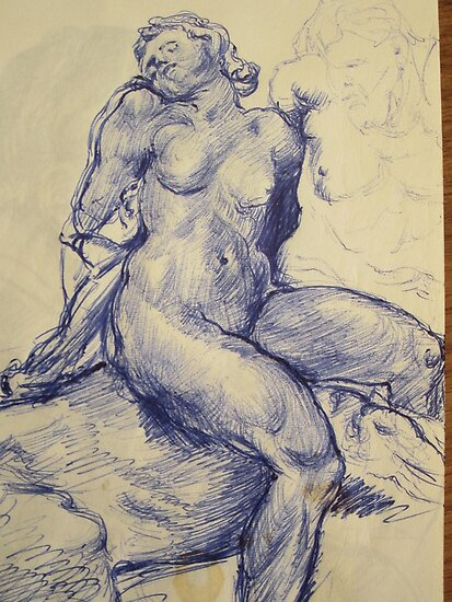 Woman nude sketch by atelierwilfried