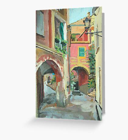 Monterosso Albergo Greeting Card