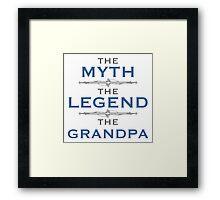 Myth Legend Grandpa Framed Print