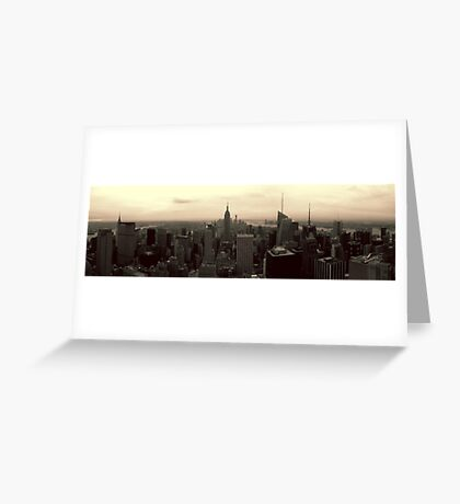 Manhattan Morning Greeting Card