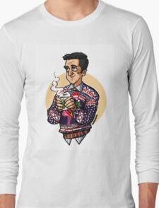 Christmas Chilton! Background version Long Sleeve T-Shirt