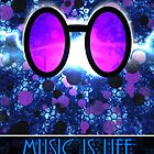 Vinyl Scratch - Music is Life [Posters + iPad / Phone Case] by GameBeatX