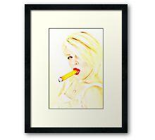 Blonde delight Framed Print