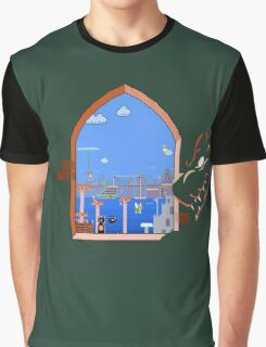 Our Hero Approaches (Green Background) Graphic T-Shirt