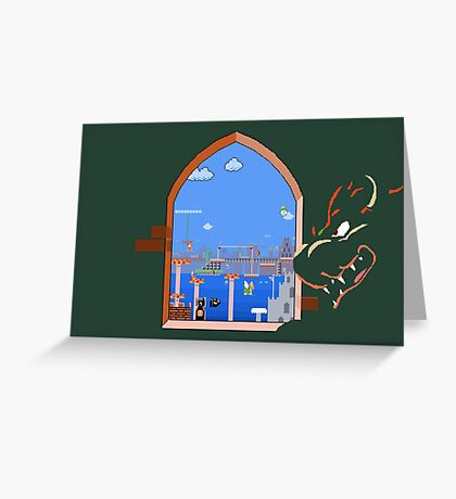 Our Hero Approaches (Green Background) Greeting Card