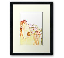 Care free and beautiful  Framed Print