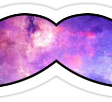 Mustache Galaxy Sticker