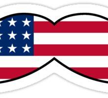 Mustache America Sticker