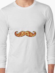 Mustache Pizza Long Sleeve T-Shirt