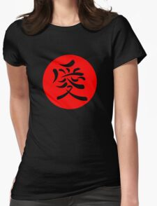 Japanese Kanji for Love Womens Fitted T-Shirt
