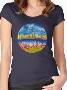 Pond View Women's Fitted Scoop T-Shirt