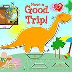 Cute Cartoon Dinosaur Good Trip Holiday Cut & Paste Craft by cutecartoondino