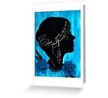 Silhouette Feathers  Greeting Card