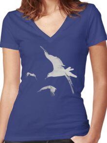 1989 seagulls Women's Fitted V-Neck T-Shirt