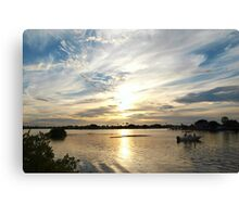 Boating beauty in wide view Canvas Print