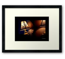 Antique Lamp Reflection In The Mirror Framed Print