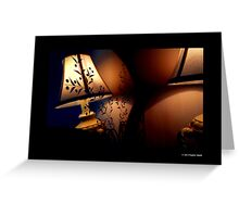Antique Lamp Reflection In The Mirror Greeting Card