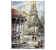 Paris 9 in colour Photographic Print