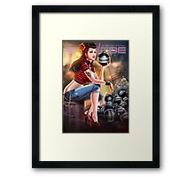 SheVibe Bomb Girl Cover Art Framed Print