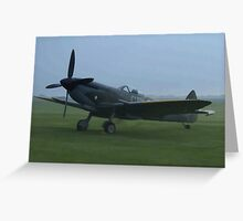 Spitfire - painting effect photo Greeting Card