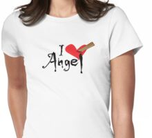In Love With Angel Womens Fitted T-Shirt