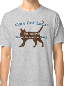 Cool Cat Lady Classic T-Shirt