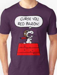 Curse You Red Baron Snoopy T-Shirt