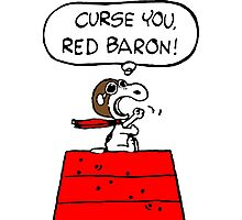 Curse You Red Baron Snoopy Photographic Print
