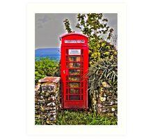 Phone Box in Rural England Art Print