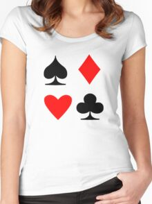 Poker Suite Women's Fitted Scoop T-Shirt