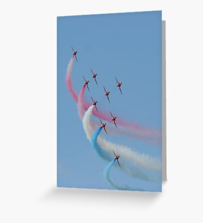 Red Arrows 02 Greeting Card