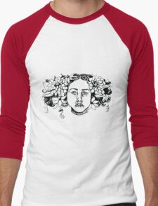 Dahlia  Men's Baseball ¾ T-Shirt