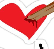 I Heart Spike Sticker