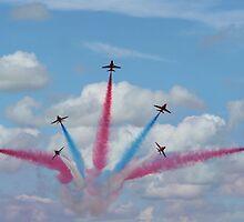 Red Arrows 03 by Peter Barrett