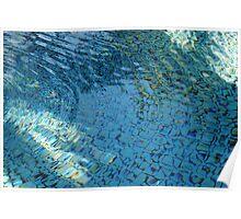 Aqua Mosaic Poster