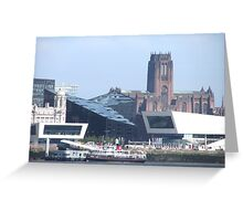 LIVERPOOL WATER FRONT Greeting Card