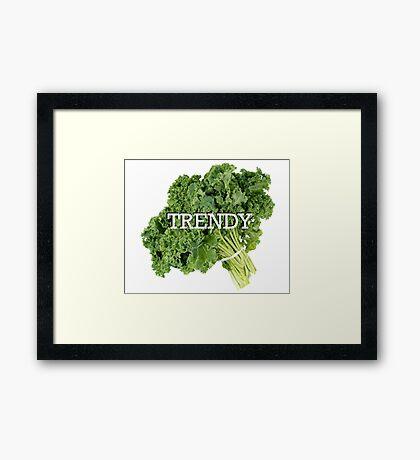 Trendy Kale Framed Print
