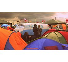 Camping Photographic Print