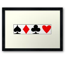 Poker Suite Framed Print