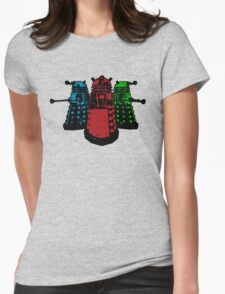 Pop Daleks Womens Fitted T-Shirt