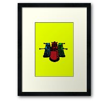 Pop Daleks Framed Print