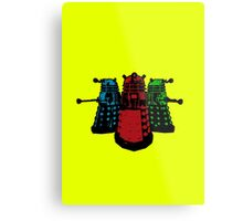 Pop Daleks Metal Print